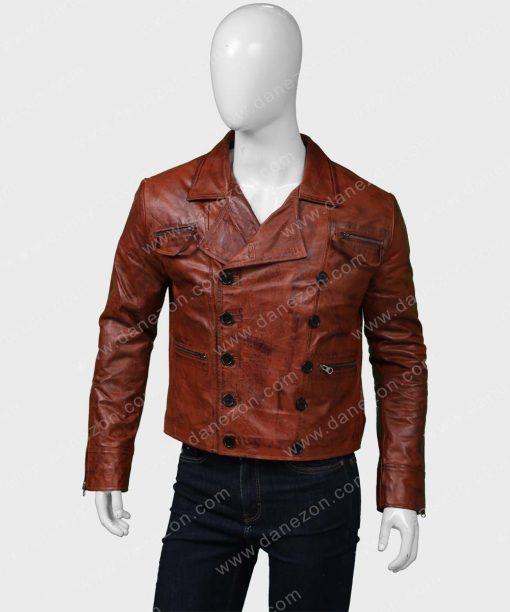 Aquaman Jason Momoa Distressed Leather Jacket