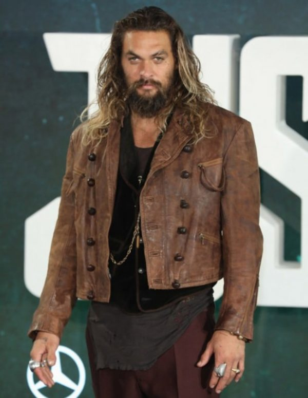 Jason Momoa Aquaman Distressed Brown Jacket