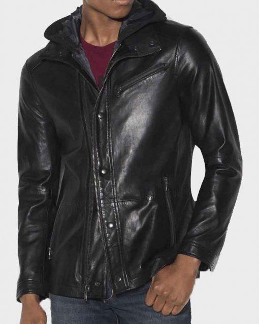 David Ramsey Leather Arrow John Diggle Black Jacket