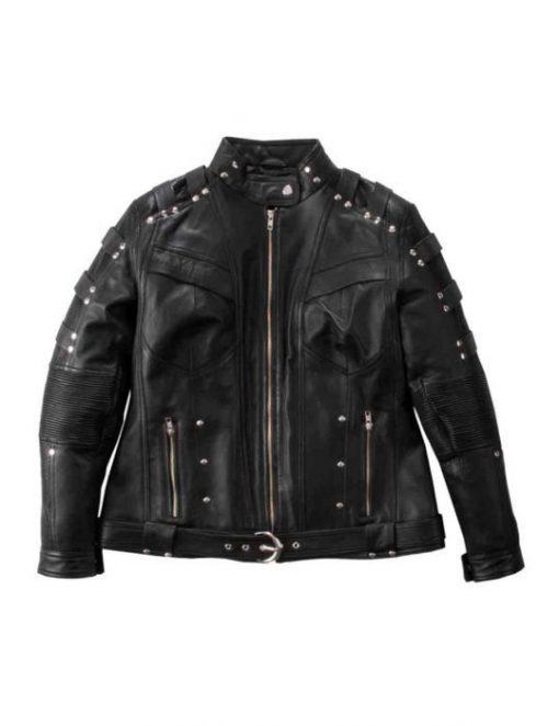 Katie Cassidy Arrow TV Series Leather Jacket