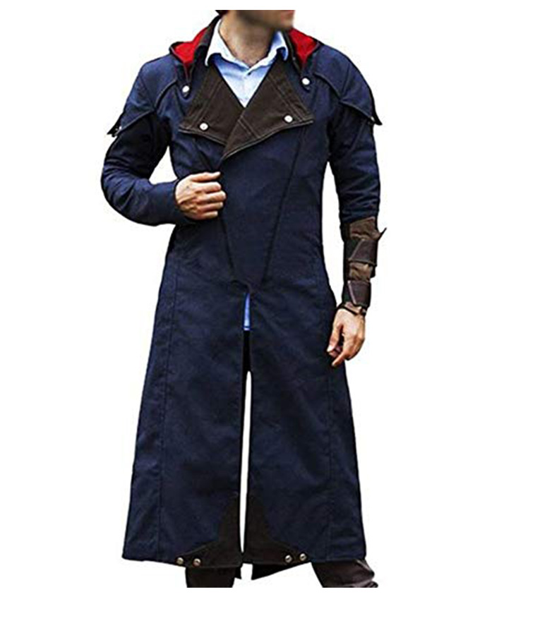 Arno Assassins Creed Unity Blue Cotton Coat Danezon