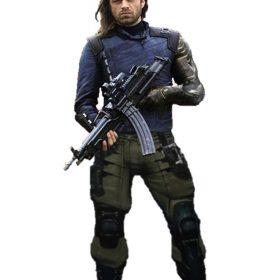 Bucky Barnes Avengers Infinity War Silver Armor Jacket