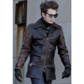 Billy Quinn Factory Girl Distressed Brown Leather Jacket
