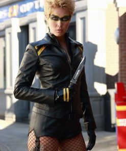 Smallville TV Series Black Canary Leather Jacket