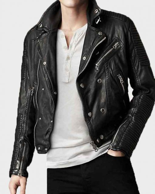 Burberry Quilted Black Biker Jacket