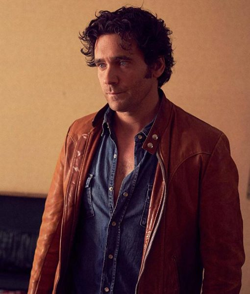 Allan Hawco Caught TV Series Brown Leather Jacket