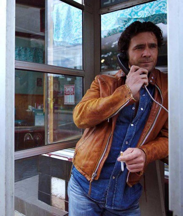 David Slaney Caught TV Series Cafe Racer Leather Jacket