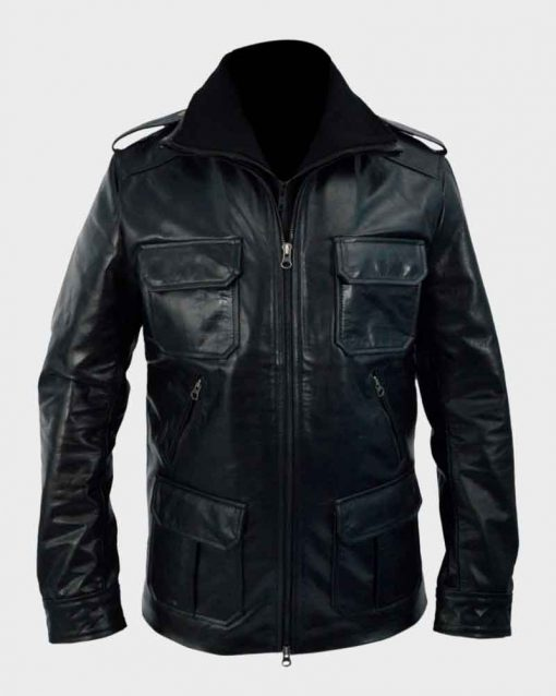 Sean Bean Black Leather Cleanskin Ewan Jacket
