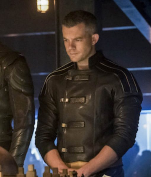 Russell Tovey Crisis On Earth X Leather Jacket