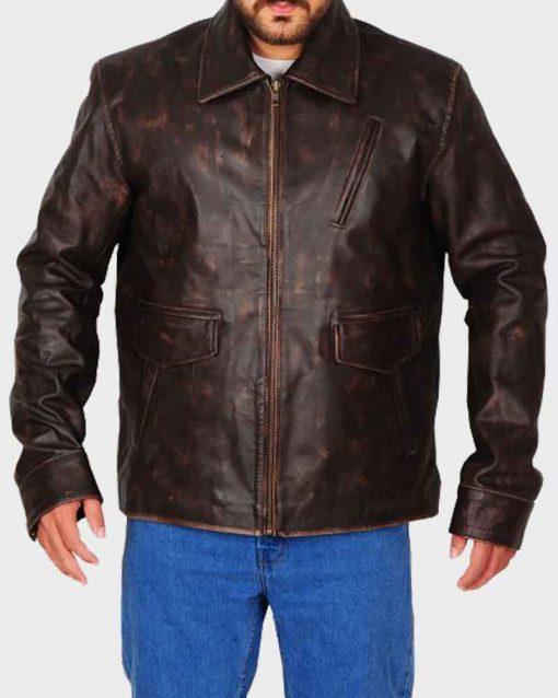 Gerard Butler Brown Den of Thieves Big Nick Brien Jacket