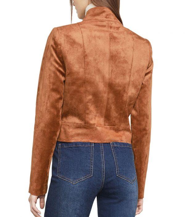 Arrow Dinah Drake Brown Suede Leather Jacket