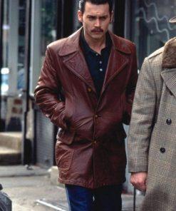 Johnny Depp Donnie Brasco Brown Jacket