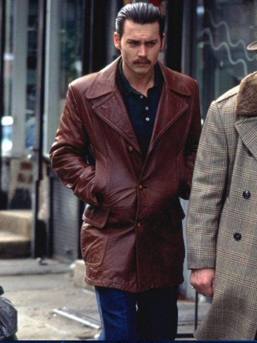 Johnny Depp Donnie Brasco Brown Jacket