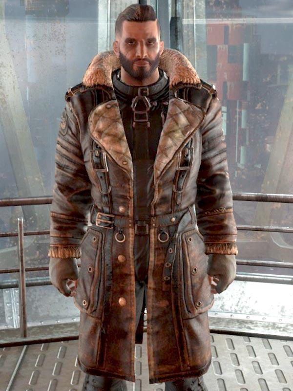a7a475be6 Elder Maxson Fallout 4 Fur Collar Brown Coat