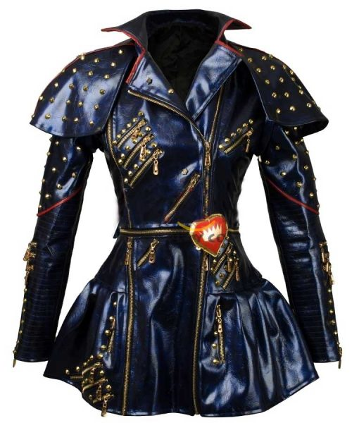 Descendants 2 Evie Blue Leather Jacket