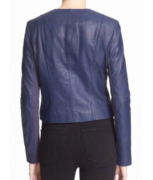 Arrow TV Series Felicity Smoak Blue Slimfit Jacket