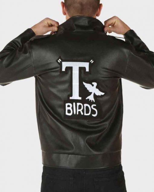 T-Birds John Travolta Black Leather Grease Danny Jacket