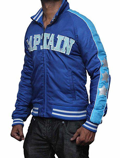 Suicide Squad Jai Courtney George Harkness Blue Bomber Jacket