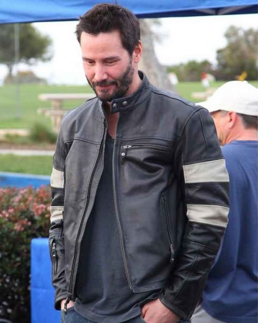 Keanu Reeves Black Slimfit John Wick 2 Cafe Racer Jacket