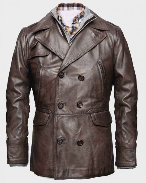 Ben Affleck Brown Distressed Leather Live By Night Joe Coughlin Jacket