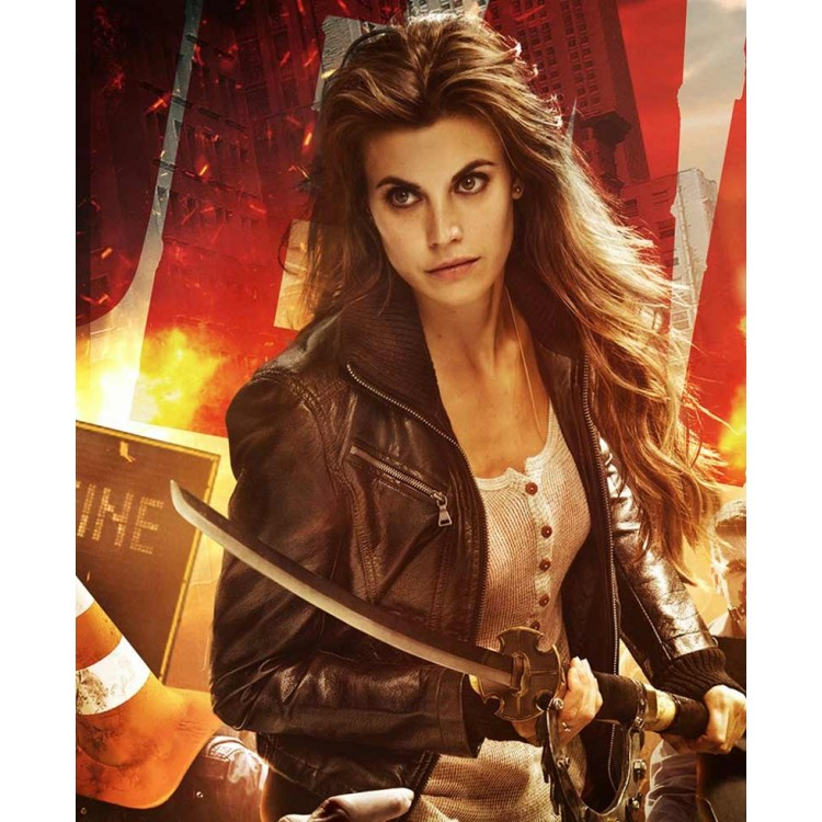 Dead Rising Watchtower Crystal Meghan Ory Black Leather Jacket