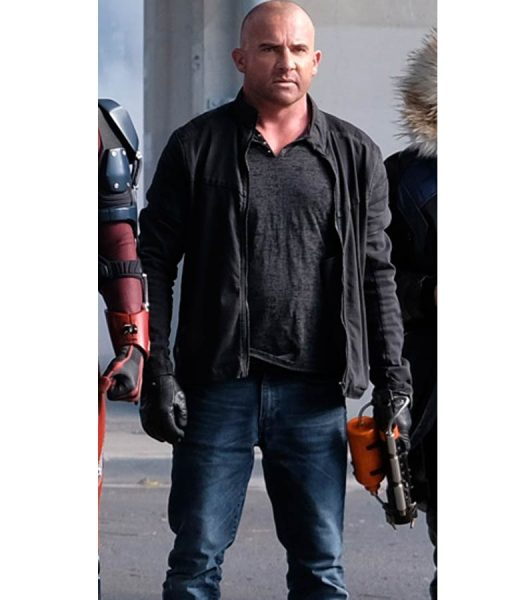 Crisis On Earth X Mick Rory Black Cotton Jacket