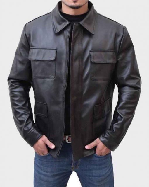 Robert De Niro Black Leather Midnight Run Jack Walsh Jacket