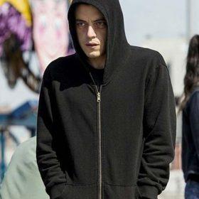 Rami Malek Mr. Robot Black Hoodie