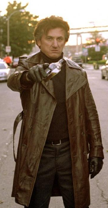 Mystic River Brown Leather Coat