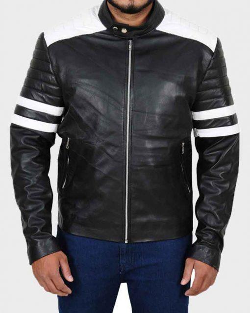Dave Franco Black Cafe Racer Leather Nerve Ian Jacket