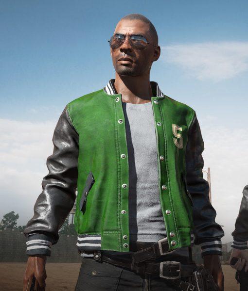 Pubg 5M Black And Green Varsity Gaming Jacket