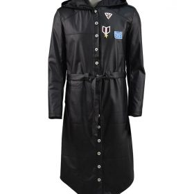 PUBG Black Trench Leather Coat