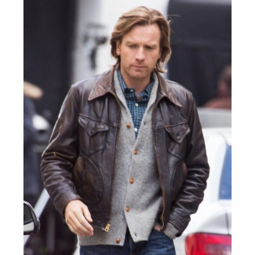 Perry Our Kind of Traitor Brown Leather Jacket