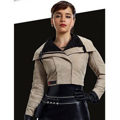 Emilia Clarke A Star Wars Story Leather Jacket