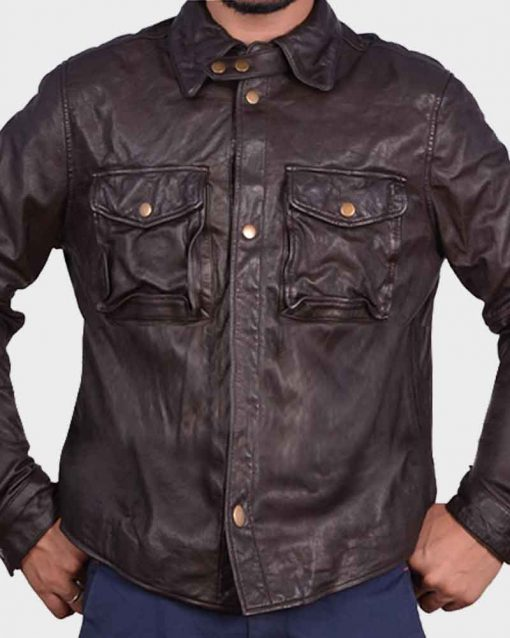 William Levy Brown Leather Quinton Canosa Addicted Jacket