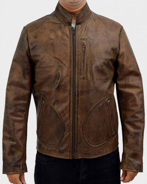 Dwayne Johnson Brown Rampage Davis Okoye Jacket
