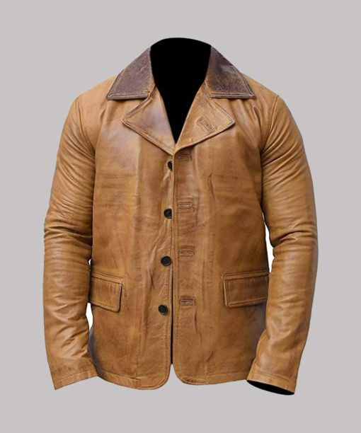 Red Dead Redemption II Brown Leather Jacket