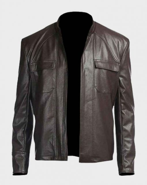 Oscar Isaac Leather Star Wars The Last Jedi Poe Dameron Brown Jacket