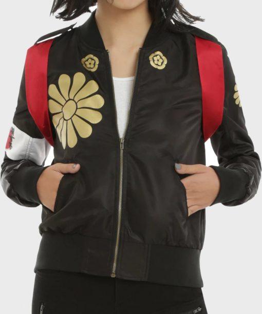 Suicide Squad Karen Fukahara Bomber Leather Jacket