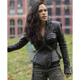 Jessica Camacho The Flash Leather Jacket