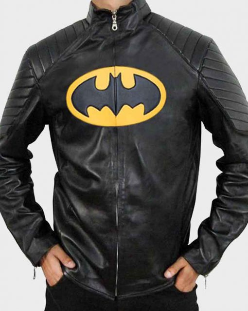 Will Arnett The Lego Batman Black Leather Jacket