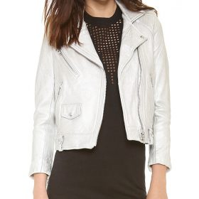 Arrow Thea Queen Silver Motorcycle Jacket