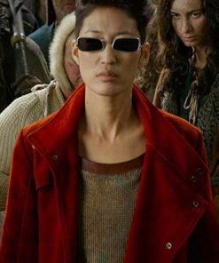 Mortal Engines Anna Fang Red Wool Coat