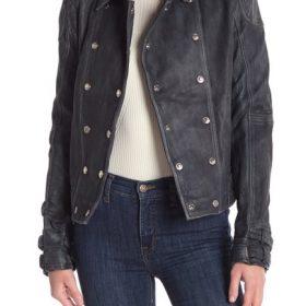 Dinah Drake Arrow Season 7 Black Motorcycle Jacket