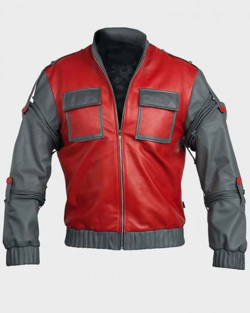 Michael J. Fox Leather Back To Future 2 Marty McFly Jacket
