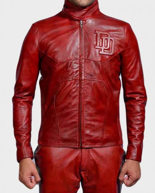 Ben Affleck Red Leather Matt Murdock Daredevil Jacket