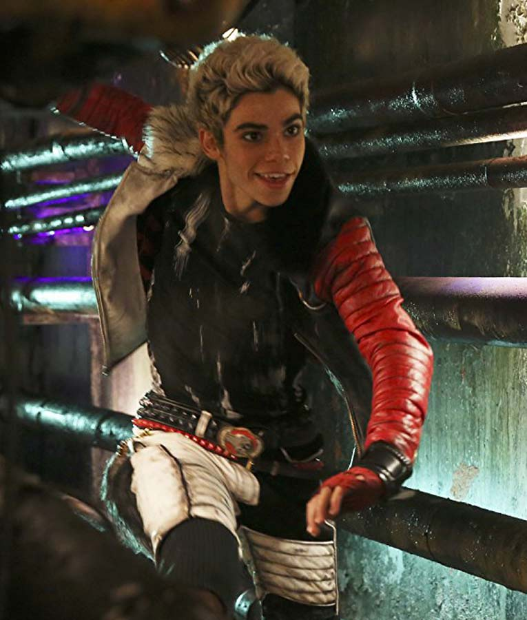 Carlos Descendants Cameron Boyce Shearling Leather Jacket
