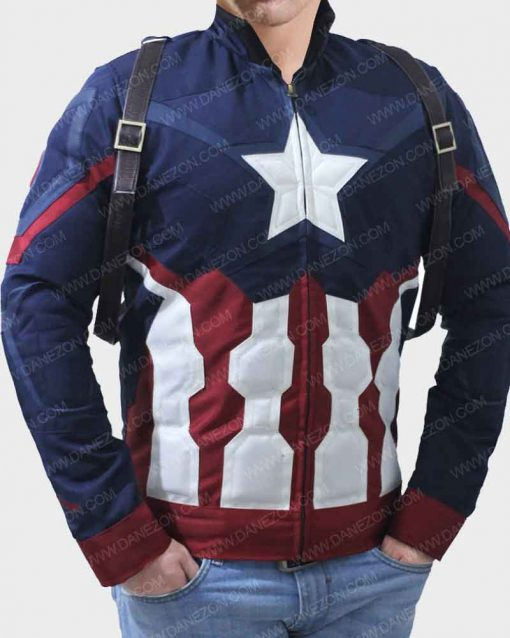 Steve Rogers Captain America Civil War Leather Jacket