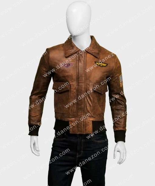 Captain Marvel Flight Brown Bomber Jacket