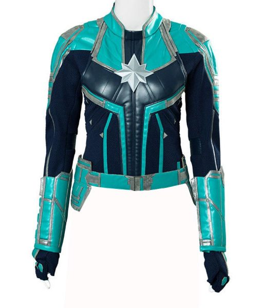 Captain Marvel Green Leather Jacket